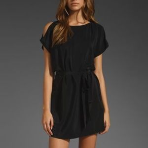 JOIE Cold shoulder silk dress